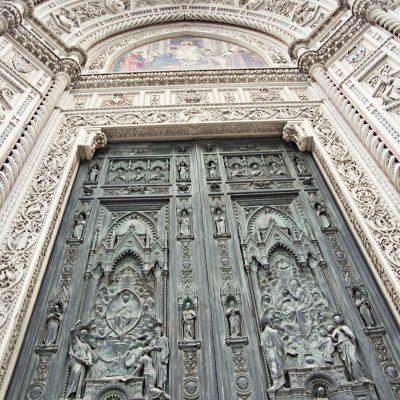 Gate of Basilica di Santa Maria del Fiore, in Florence