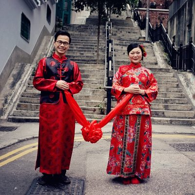 Hong Kong Couple just married.